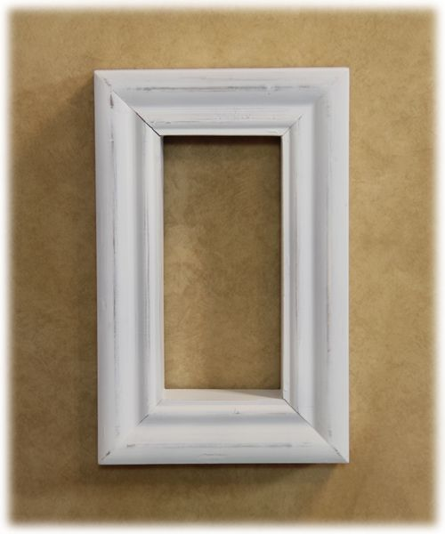 Vertical shadow box, with a white shabby finish, and mild distressing for a vintage appeal. You can display your favorite Willow Tree piece or even a small floral arrangement in it!