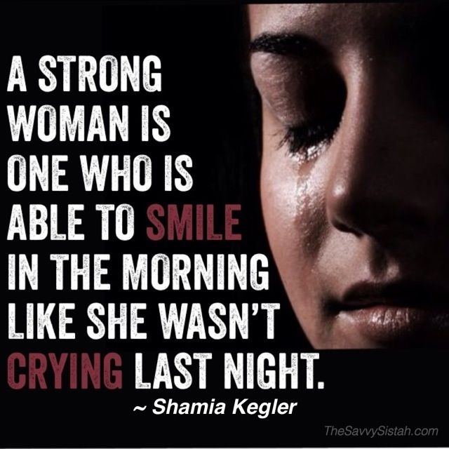 "Savvy Quote: ""A Strong Woman"