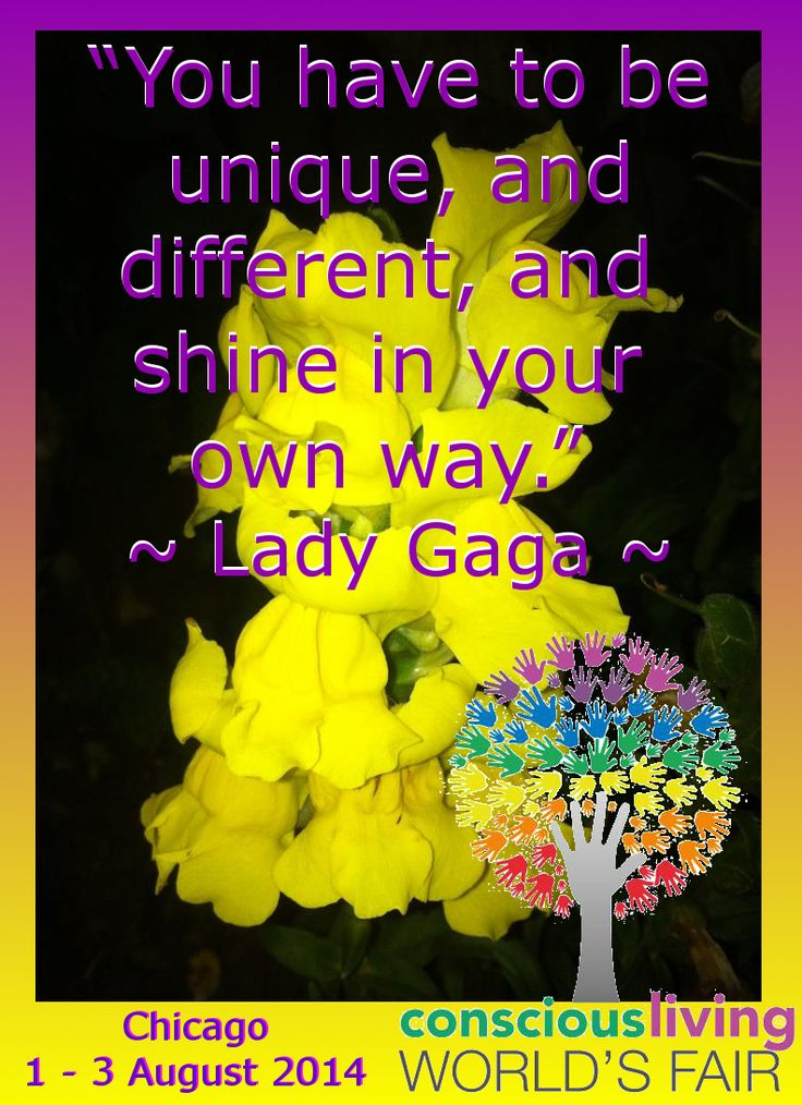 Uniquely Shine ~ Lady Gaga https://www.facebook.com/ConsciousLivingWorldsFair