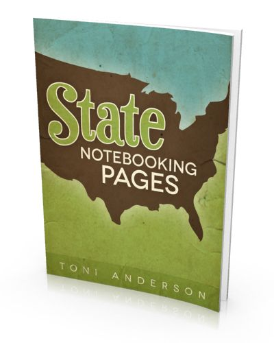 Free State Notebooking Pages eBook at The Happy Housewife; US geography; classical conversations cycle 3