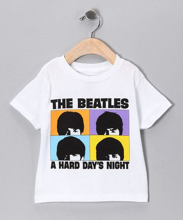 Take a look at this White Beatles 'Hard Day's Night' Tee - Toddler & Kids by Rock Band: Tees & Bodysuits on #zulily today!