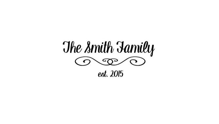 Family Name Wall Decal, Family Name Established Year, Custom Wedding Gift, Family Name Monogram,Personalized Family Name,Custom Family Decor - pinned by pin4etsy.com