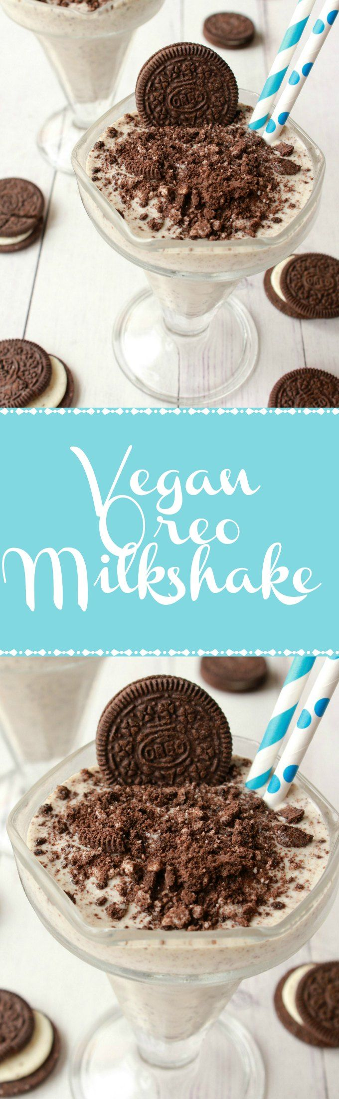 Super Easy 3-Ingredient Vegan Oreo Milkshake. Ready in 5 minutes! Vegan | Vegan Dessert | Vegan Milkshake | Vegan Food | Vegan Recipes