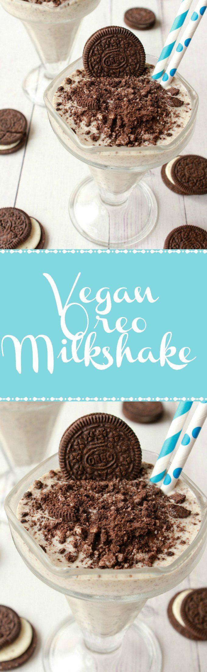Super Easy 3-Ingredient Vegan Oreo Milkshake. Ready in 5 minutes! Vegan | Vegan Dessert | Vegan Milkshake | Vegan Food | Vegan Recipes