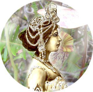 Historias y Pinturas: Mata-Hari, el mito. Dibujo digital : www.rosaprat.es