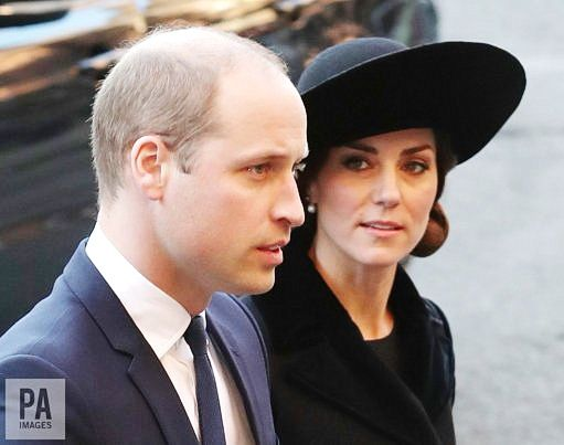 November 28, 2016: The Duke and Duchess of Cambridge joined the Prince of Wales, the Duchess of Cornwall, family and friends to celebrate the life of the 6th Duke of Westminster, Major General Gerald Cavendish Grosvenor at Chester Cathedral this afternoon.