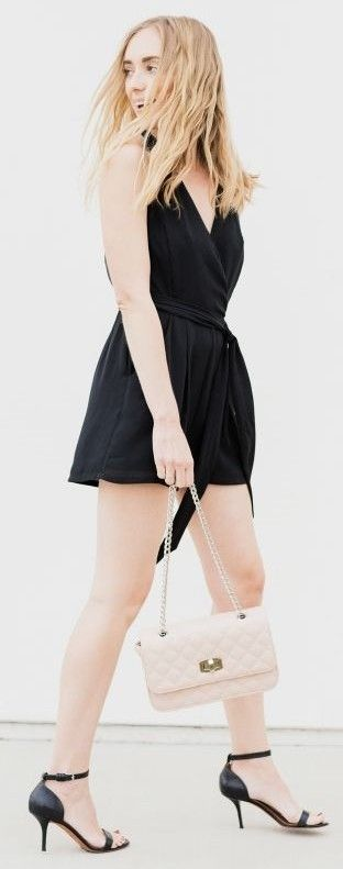 #spring #summer #fashionistas #outfitideas |Black + Touch Of Nude Night Outfit |Eat Sleep Wear