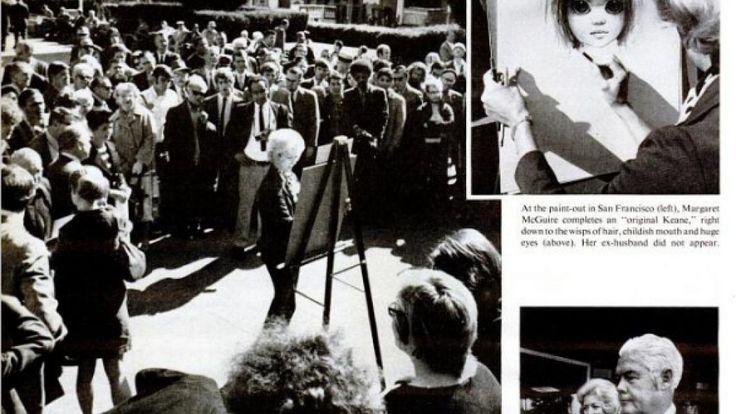 Margaret Keane tuvo que demostrar pintando en un juicio que era ella y no su marido la autora de las famosas figuras de ojos grandes