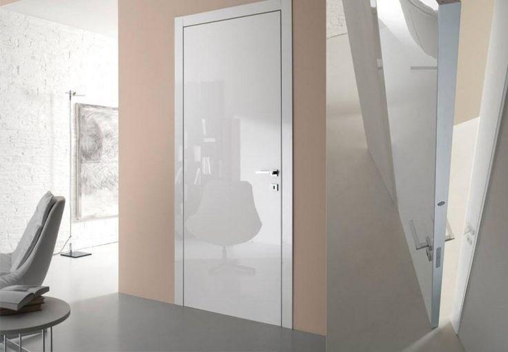 porte intérieure moderne blanche laquée, Bertolotto porte