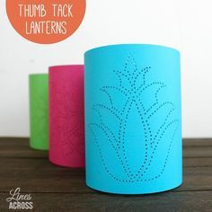 DIY Diwali Craft Thumb Tack Paper Lanterns - All you need is some cardstock, scissors, tape, and a thumb tack to create these cool paper lanterns.