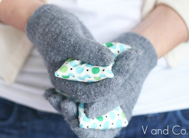 DIY HAND WARMERS  What You'll Need  Fabric  Rice  Scissors  Sewing kit (or machine)  Paper  How To Make It  1. Cut 3-inch by 3 1/2-inch rectangles out of fabric.   2. Take two fabric rectangles and line them up by placing the two right (pretty or brighter) sides together.   3. Sew three of the edges together, using a 1/4-inch seam allowance. (A machine will be faster but you can sew by hand too).   4. Sew the final side, but leave a 1 1/2-inch opening at the top.   5. Turn the fabric inside…