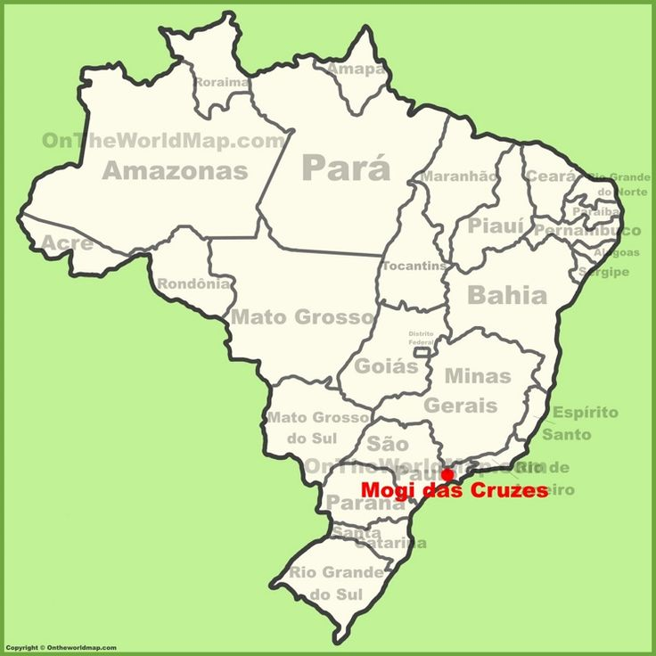 Mogi das Cruzes location on the Brazil map