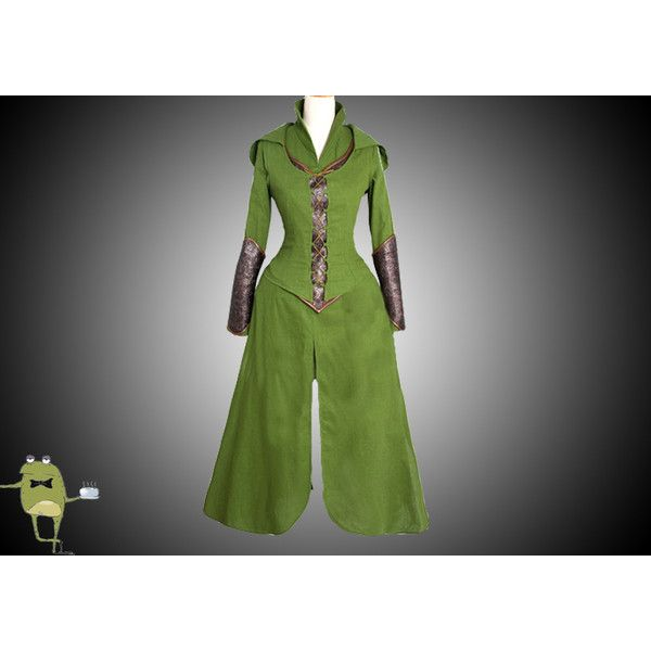 The Hobbit Tauriel Cosplay Costume for Sale ($285) ❤ liked on Polyvore featuring costumes, role play costumes, cosplay halloween costumes, cosplay costumes, elf halloween costume and elf costume