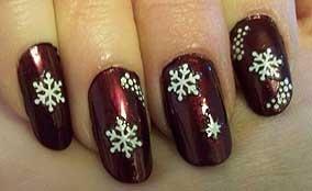 snowflake nails!