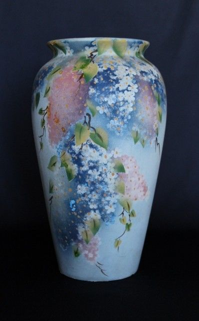 Beautifully Hand Painted Hydrangea Motif  BENDIGO POTTERY Blank Vase