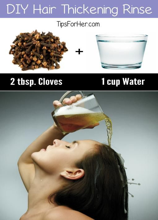 DIY Hair Thickening Rinse - Cloves are a great way to thicken thinning hair.
