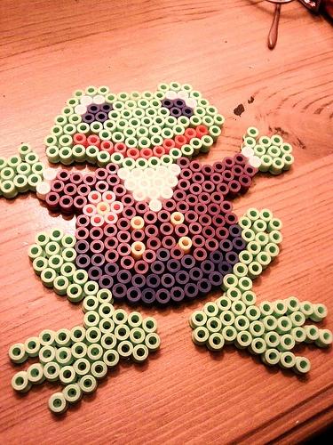 Freddy frog hama beads by elzi13