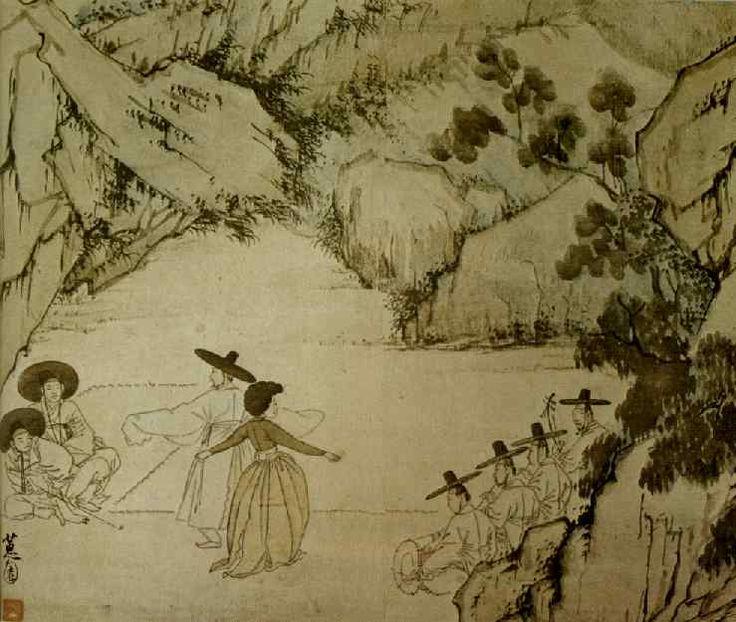 혜원(惠園) 신윤복(申潤福) - 납량만흥 (納凉漫興). 1805