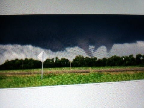 multiple tornadoes hitting the Dallas Fort Worth area on April 3, 2012.