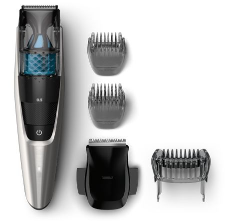Trim your beard, mustache and sideburns while keeping tidy with this  trimmer. Its powerful vacuum catches cut hair as you go along, giving you a mess-free trim.