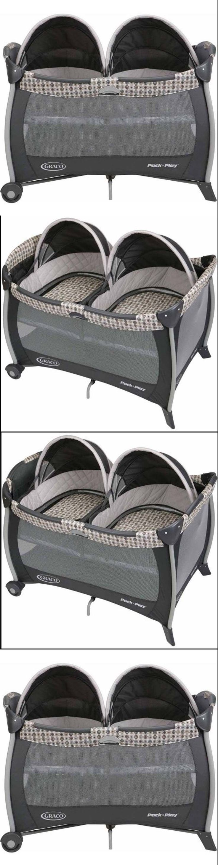 graco bedroom bassinet portable crib. baby nursery: twin bassinet playard for portable infant bed removable quilted crib - graco bedroom h
