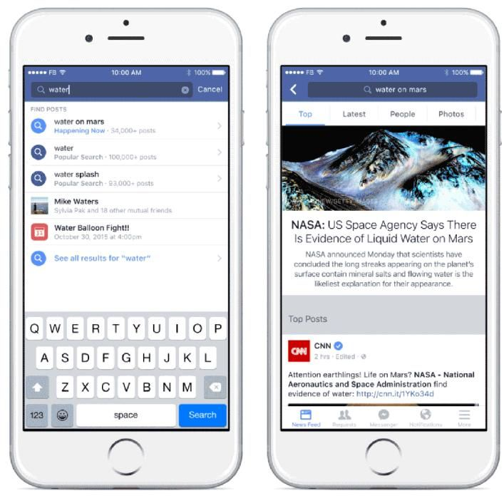 Facebook Upgrades Search, Improves Discovery of Real-Time News and Conversation