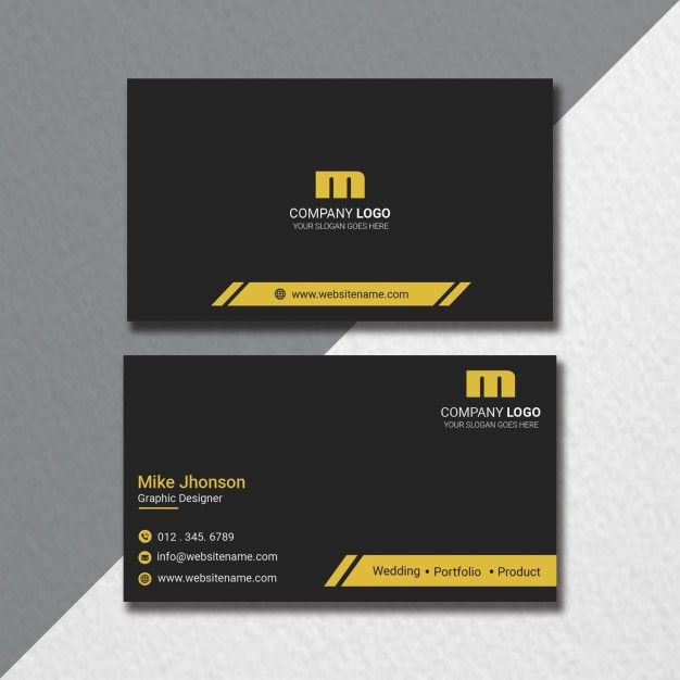 Flat Business Card Template In 2020 With Images Business Card