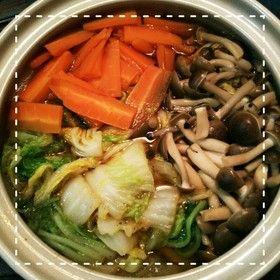 土鍋で簡単!白菜とにんじんの煮物