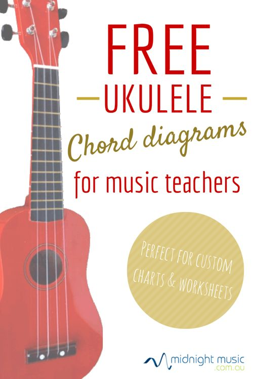 Free Ukulele chord diagrams by midnightmusic.com.au Download the ukelele chord diagrams for free and use them in worksheets, interactive whiteboard resource creation, charts and more.