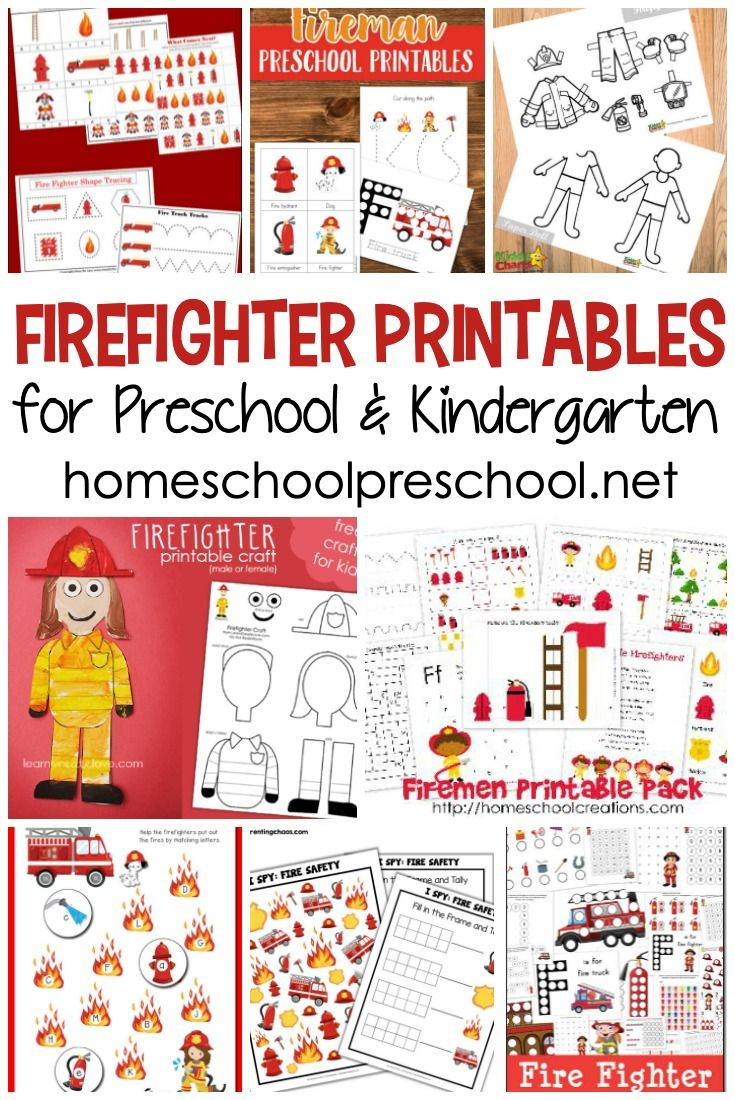 Free Firefighter Printables For Preschool And Kindergarten Free Preschool Printables Fire Safety Worksheets Fire Safety Preschool Crafts [ 1100 x 735 Pixel ]