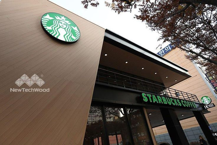 UltraShield brand composite cladding on Starbucks wall