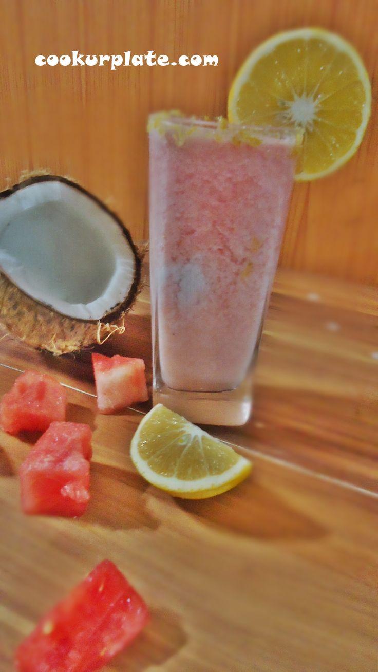 watermelon coconut smoothie