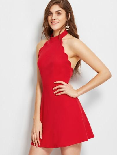 Perfect prom dress, wedding dress, event dress. Fabric: Fabric has some stretch Season: Summer Type: Skater Pattern Type: Plain Sleeve Length: Sleeveless Color: Red Dresses Length: Short Style: Elegan