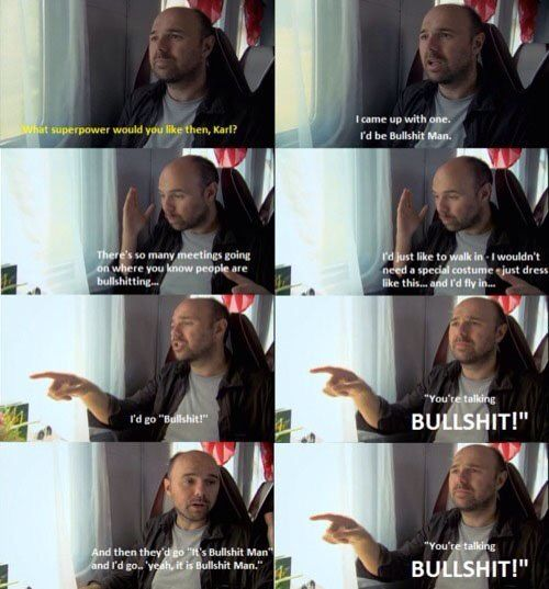 "Karl Pilkington ""Bullshit Man"" on ""An Idiot Abroad"""