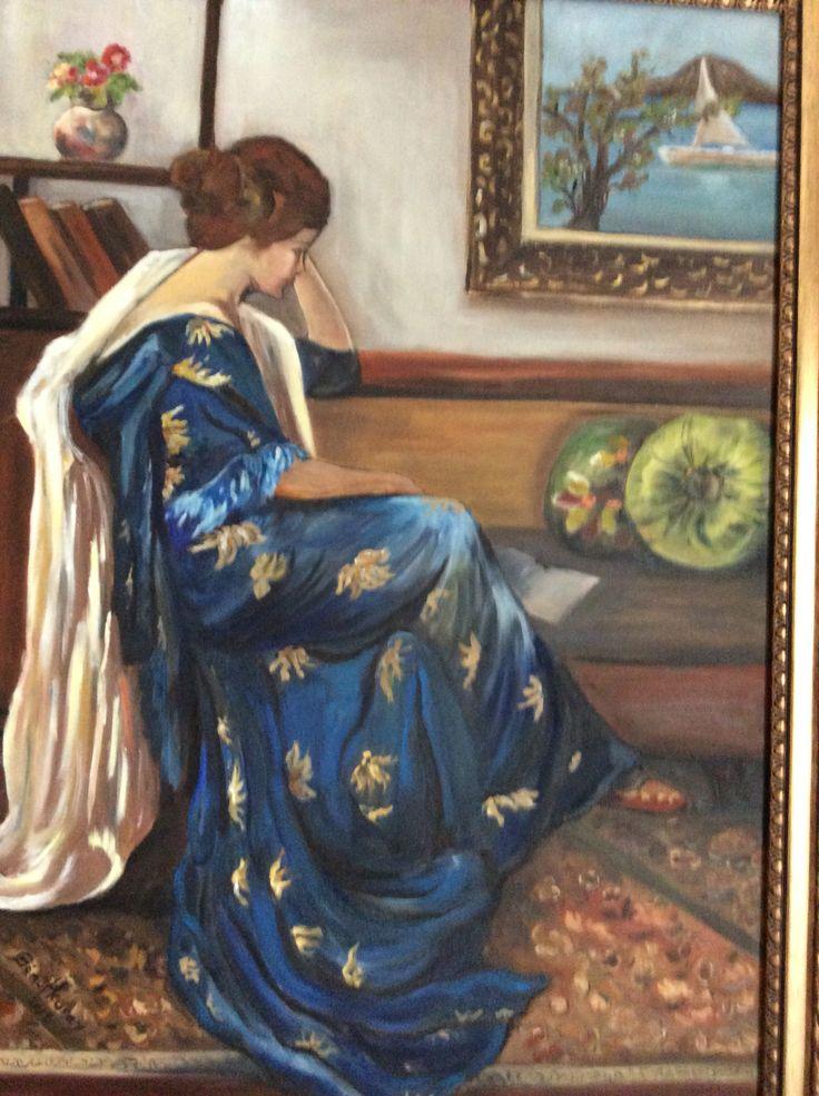 Mavili kadın