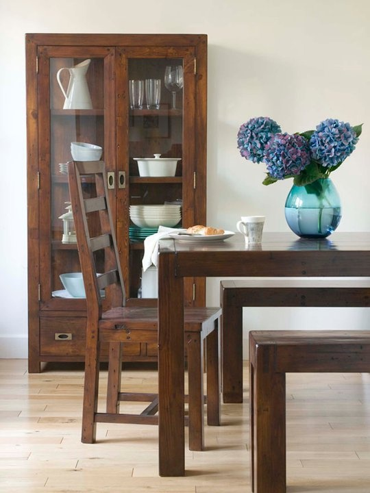 La Hacienda Post Rail Dining Table With Extension