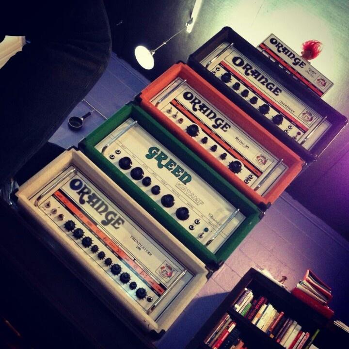 Orange amp and Green....