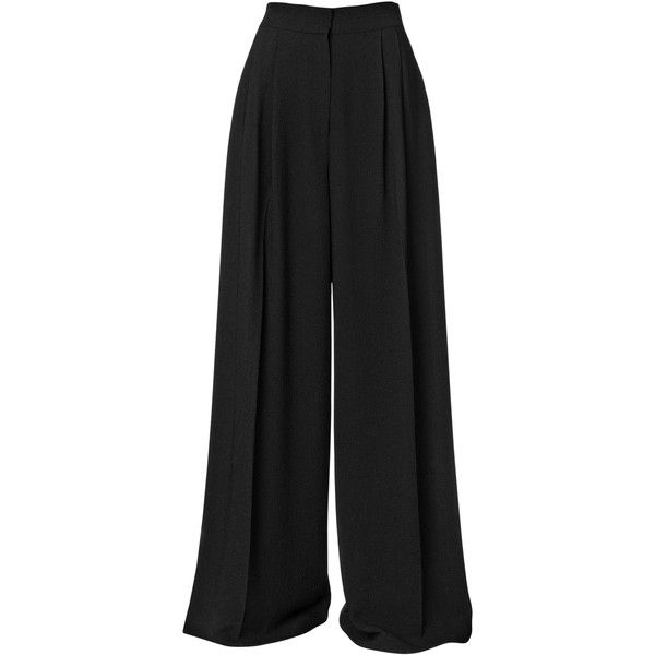 By Malene Birger Gwanda pants (€83) ❤ liked on Polyvore featuring pants, bottoms, pantalones, trousers, high rise pants, high waisted wide leg pants, high-waisted wide leg pants, high waisted tapered trousers and flat-front pants