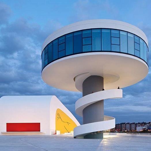 Niemeyer Center in Aviles, Spain by Oscar Niemeyer