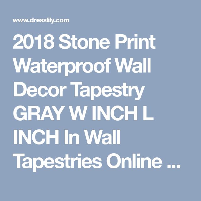 2018 Stone Print Waterproof Wall Decor Tapestry GRAY W INCH L INCH In Wall Tapestries Online Store. Best Printed Throw Blanket For Sale | DressLily.com