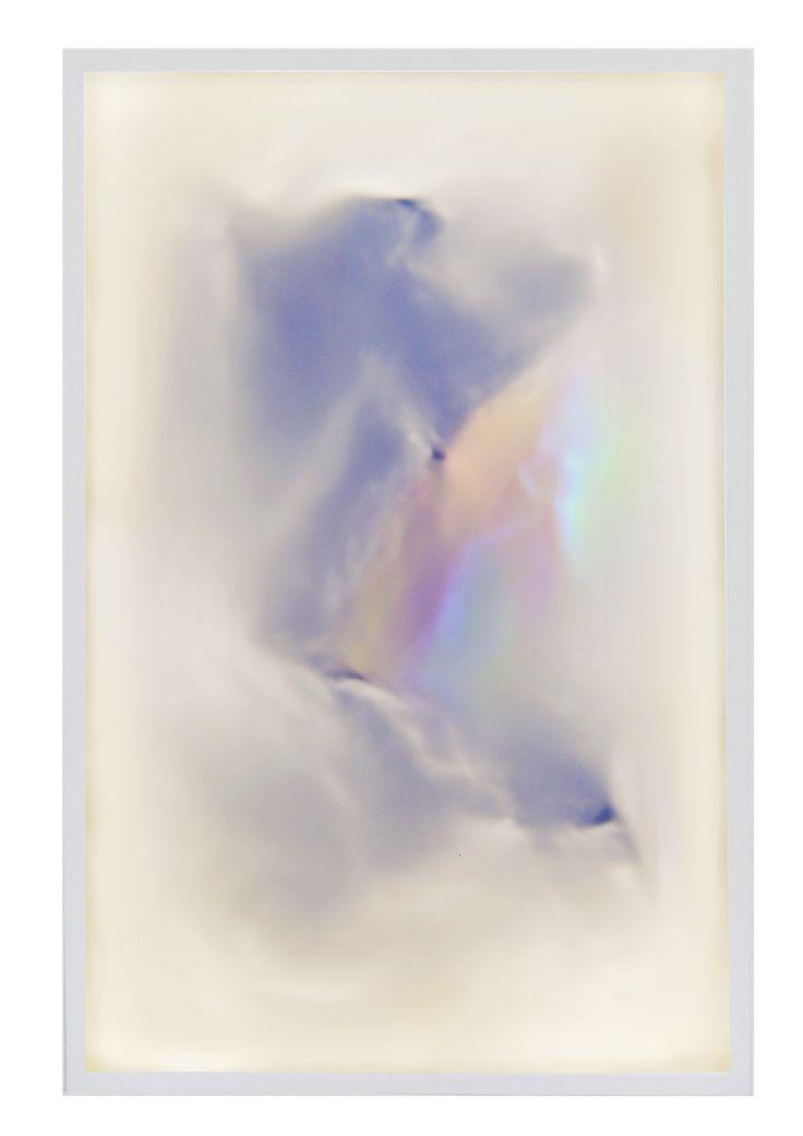 DEREK TUMALA. 00000 (Afterglow), 2016 Silver & gold on LED lightbox