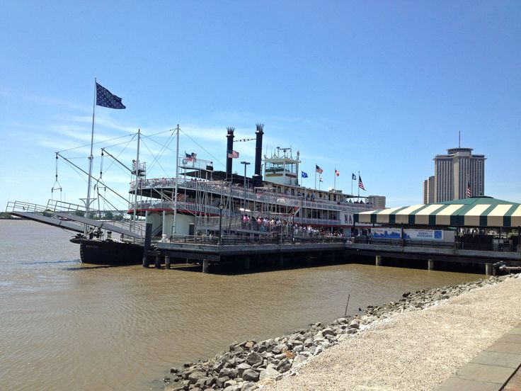 New Orleans. Mississippi River and riverboat.