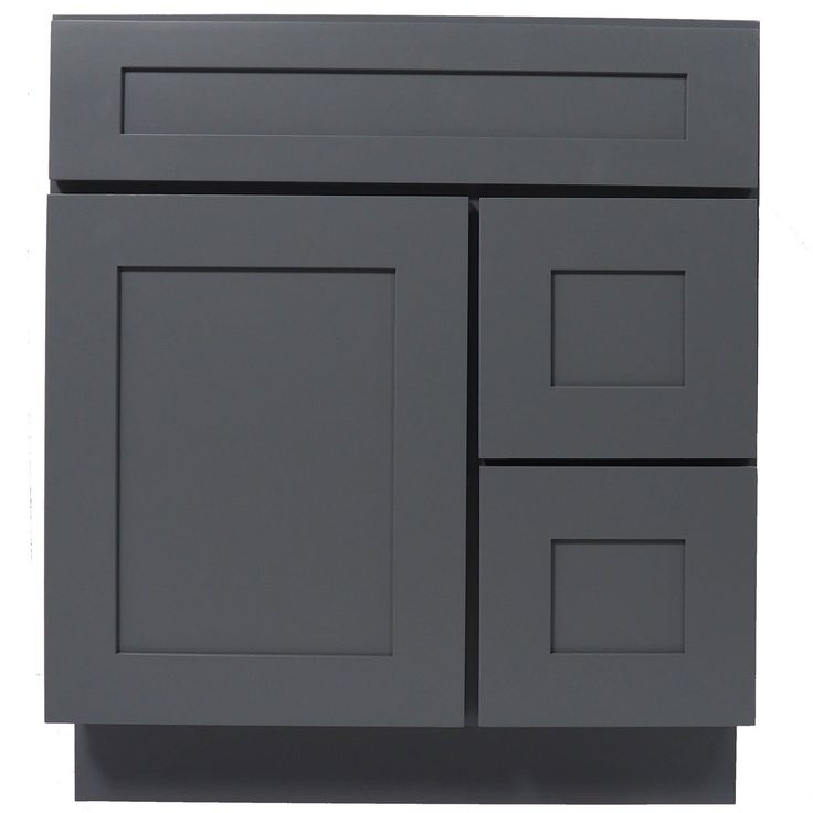 Photo Album Website  Inch bathroom vanity cabinet in solid wood Shaker Gray with soft close drawers and doors