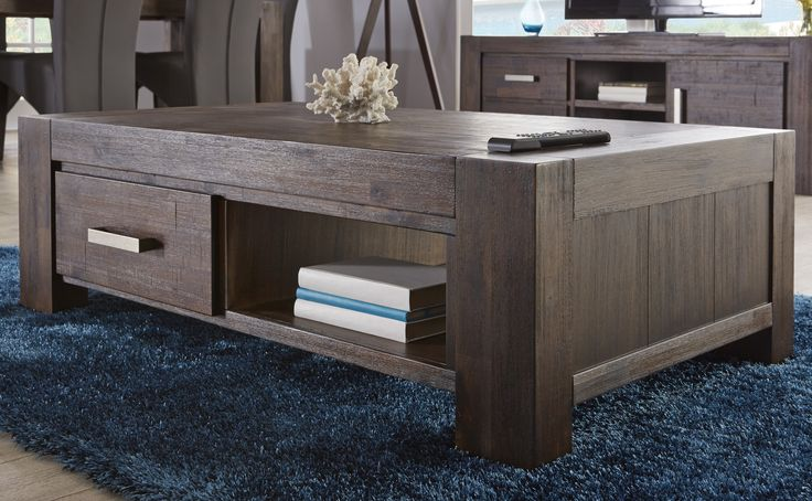 Generously-sized with two-way opening drawers, the Kingston coffee table is perfect for your lounge room