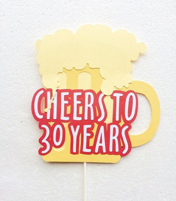 Bravo à 30ans Cake Topper ; 30e anniversaire gâteau Decor ; Décorations fête d