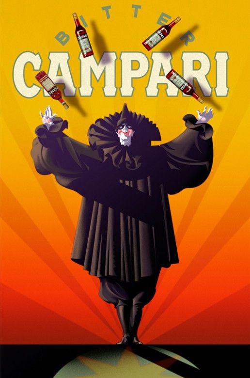 Vintage Italian Posters ~ #illustrator #Italian #posters #vintage ~ Campari