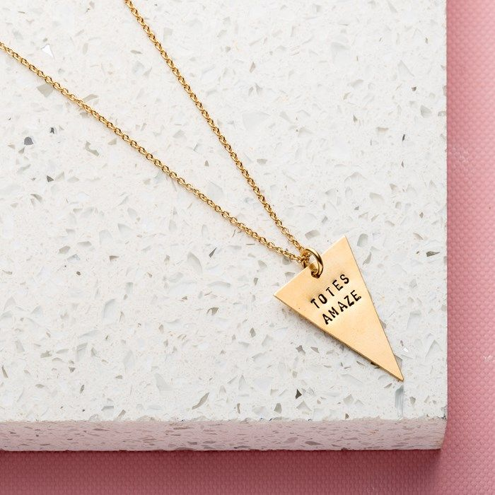 Personalised Posh Totty Designs Triangle Necklace | GettingPersonal.co.uk