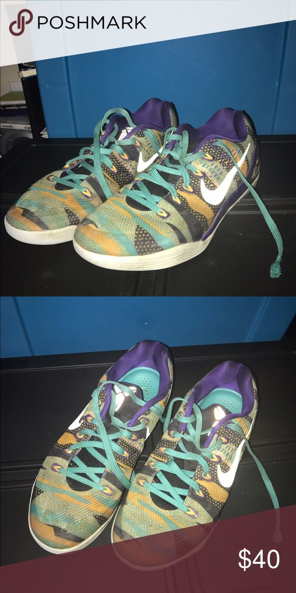 Green/Yellow Nike Kobe Bryant Gently used. Perfect hooping shoes. Shoes Sneakers