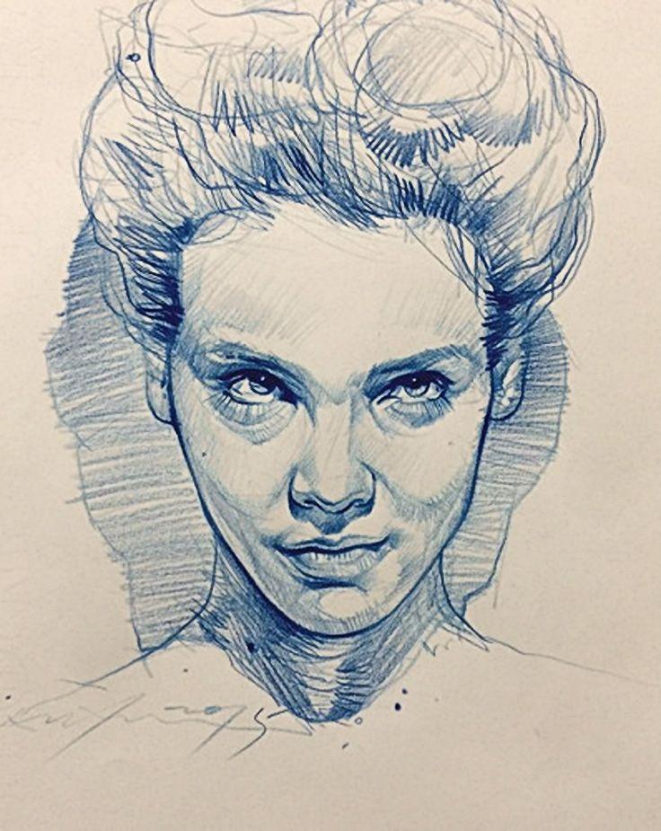 Artist: Alvin Chong, color pencil, 2015 {figurative art female head woman face portrait sketch drawing #loveart} artofalvin.com