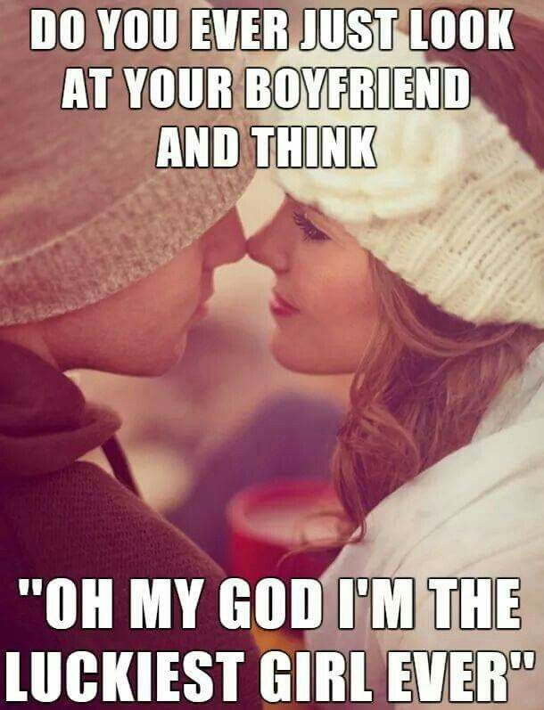 "If I could get comfortable with the word ""boyfriend"" - then yes, I could say this. :-D"